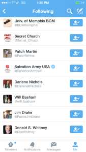 Following List